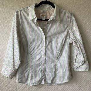 Talbot Stripe Stretch Button-Down Shirt- LP